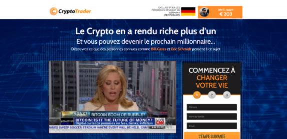 Cryptotrader avis interface